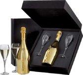 Bottega Prosecco Gold Black Box + 2 Glasses - 1 x 75 cl