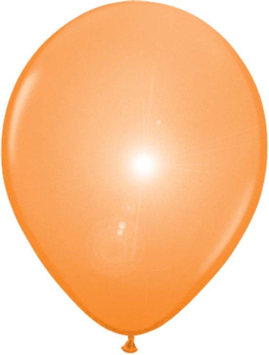 Oranje LED ballonnen - 5 stuks