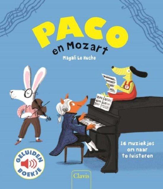 Boek cover Paco en Mozart (geluidenboek) van Magali le Huche (Onbekend)