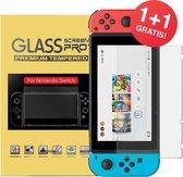 Switch Screen protector van verhard glas - 2 st. voordeelverpakking - voor Nintendo Switch