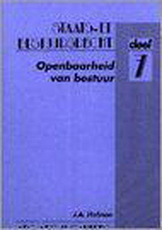 OPENBAARHEID VAN BESTUUR - J.A. Hofman |