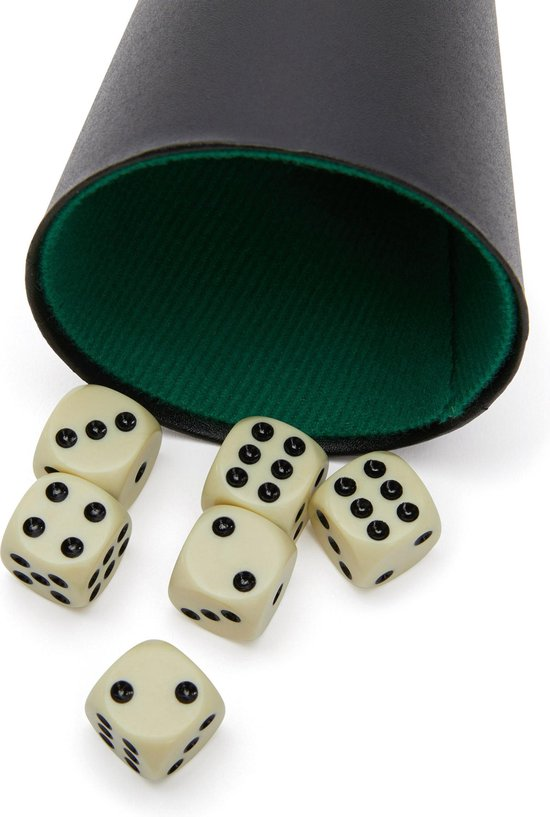 Dobbelsteenset - Scoreblok - 6 Dobbelstenen - Longfield Darts