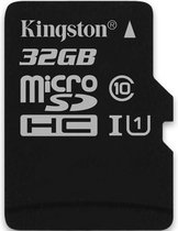 Kingston 32GB MicroSDHC-geheugenkaart (Class 10) - Single Pack w/o Adapter