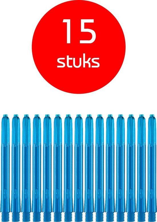 Dragon Darts - edgeglow - darts shafts - 5 sets (15 stuks) - medium - aqua - dart shafts - shafts