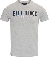 Blue Black Amsterdam Heren T-shirt Tony - Grijs Melange - Maat XL