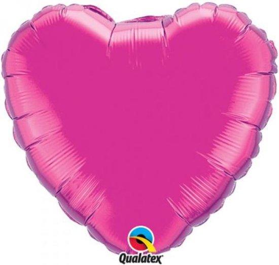 Folieballon Hart Magenta Large