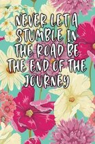 Never Let a Stumble in the Road Be the End of the Journey