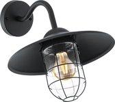 EGLO Vintage Melgoa Wandlamp - Voor buiten - 1 Lichts - Zwart