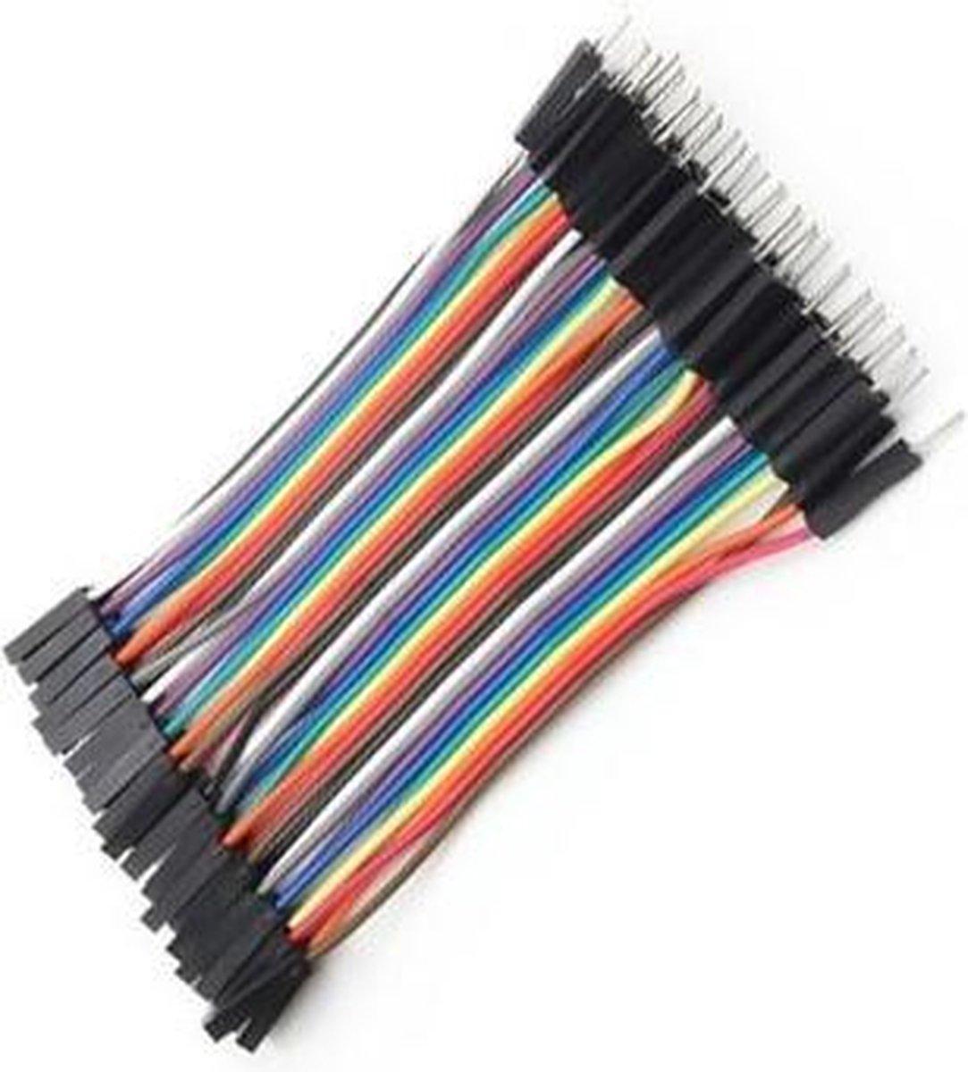 Dupont Jumper kabels 40 stuks (Male-Female) 10cm voor Breadboard - Arduino