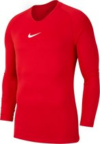 Nike Park Dry First Layer Longsleeve  Thermoshirt - Maat L  - Mannen - rood/wit