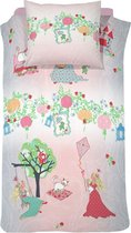 Cinderella Dekbedovertrekset katoen 140 x 200 cm dreamland pink