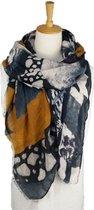Zachte viscose dames sjaal met abstracte print - 85 x 180 cm