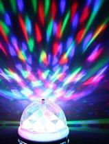 RGB Crystal E27 LED Rotating disco lamp