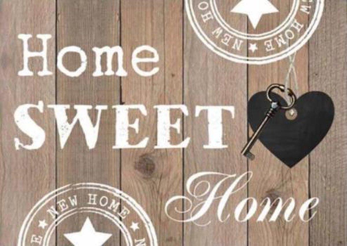 Diamond Painting Pakket Home Sweet Home Blank Hout - FULL - Diamond Paintings - 30x20 cm - SEOS Shop ®