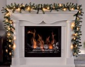 Loks Guirlande - Kerstslinger met Verlichting - Warmwit - 270 cm - Groen