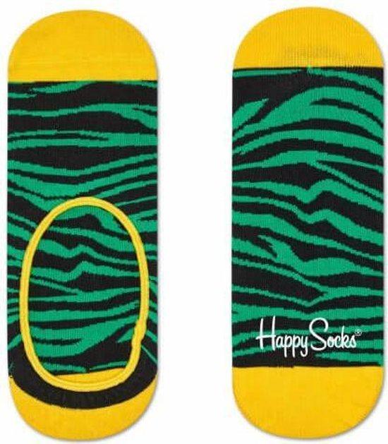 Happy Socks Liner Zebra Groen, Maat 36/40