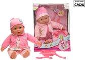 Schattige Baby pop met 3 Accessoires  - 40cm groot