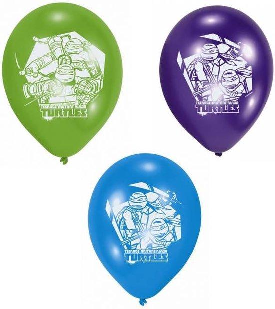 AMSCAN - Set van 6 latex ballonnen Ninja Turtles - Decoratie > Ballonnen