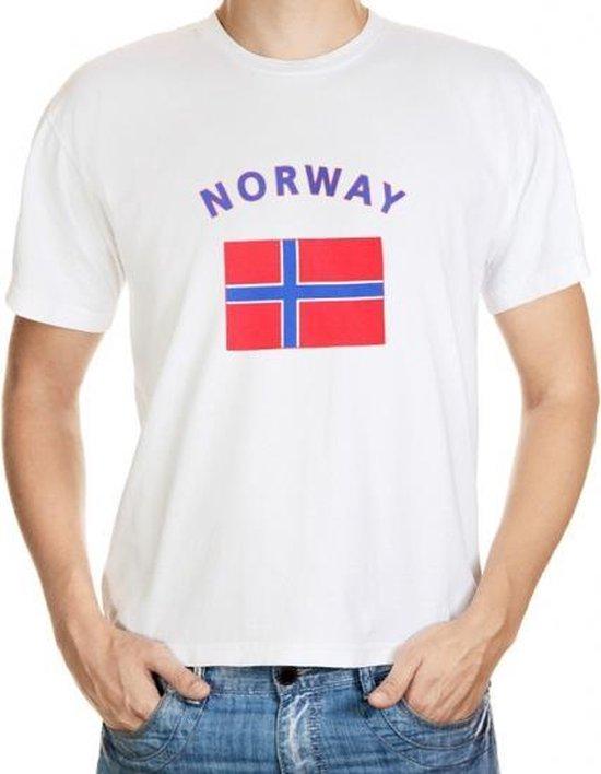 Wit t-shirt Noorwegen heren S