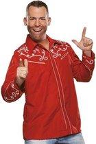 Rode western blouse voor heren 52 (L)