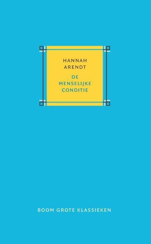 Boek cover Grote klassieken  -   De menselijke conditie van Hannah Arendt (Hardcover)