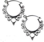 zilveren oorbellen Indian Ornament
