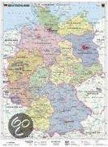 Deutschland, politisch 1 : 1 000 000. Wandkarte Kleinformat ohne Metallstäbe
