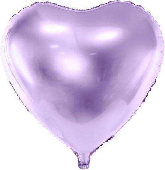 Folieballon hart, 45cm, licht lila / lavendel