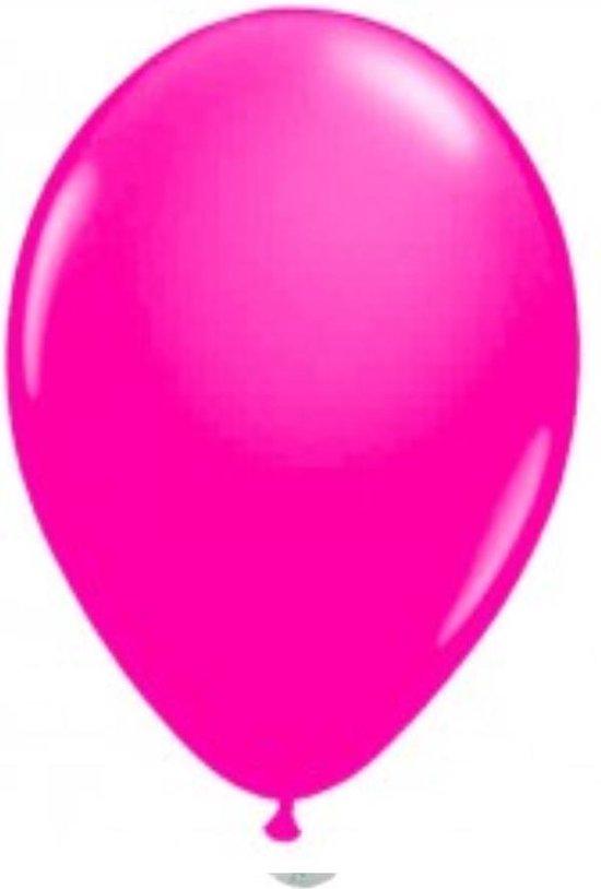 100 ballonnen fluor rose