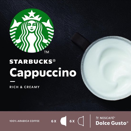Starbucks® Cappuccino koffie cups by Nescafé® Dolce Gusto® - 3 x 12 capsules
