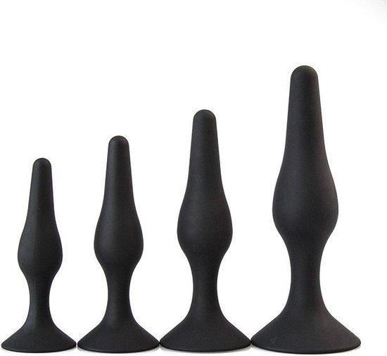 set van 4 stuks trainer Buttplug zwart Ø 45 mm Cimejo® LT-43