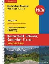 Duitsland/Zwitserland/Oostenrijk/Europa autoatlas 2018-2019 Falk