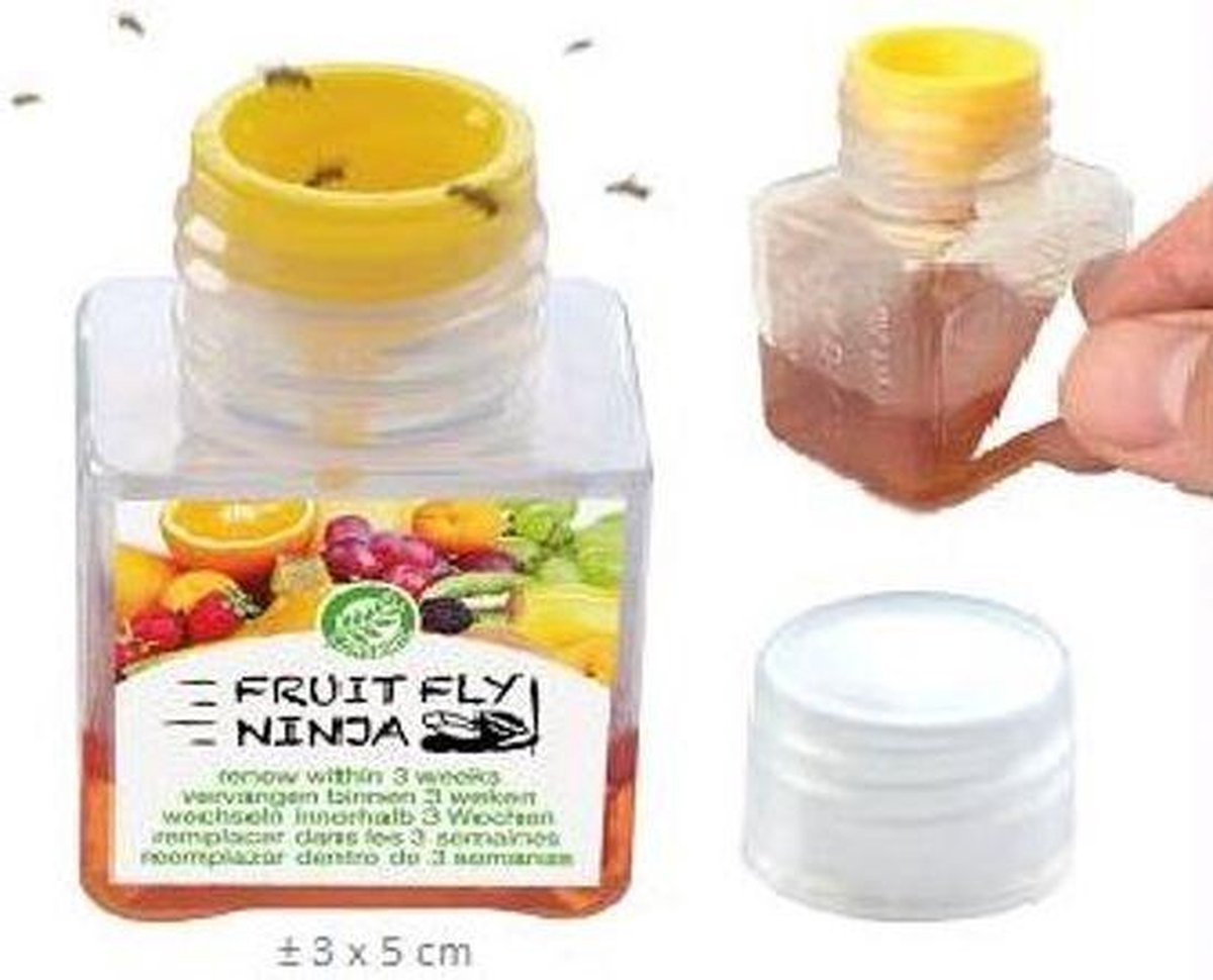 Fruitvliegjes vanger 2-pack FRUIT FLY NINJA, fruitvlieg, anti-fruitvliegjes, fruitvliegjes bestrijde