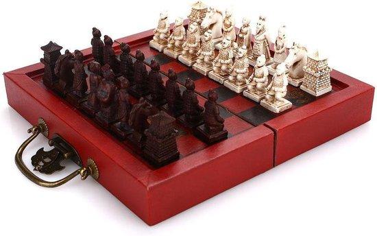 LIPIN YOSI | Schaakbord Chinese Stijl | X'ian Terracotta Schaakstukken