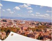 Uitzicht op Rome Tuinposter 200x100 cm - Tuindoek / Buitencanvas / Schilderijen voor buiten (tuin decoratie) XXL / Groot formaat!