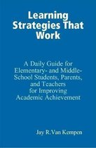 Learning Strategies That Work