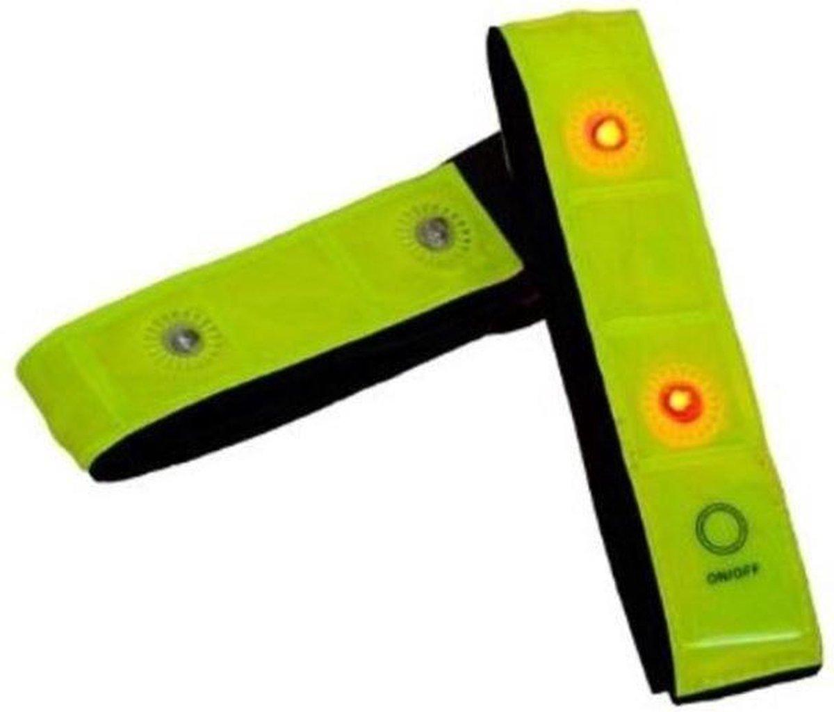 Rood Lichtgevende LED Veiligheidsband - 2 Stuks - Inclusief Batterij | Knipperend of Brandend Licht ® - Morsal's World