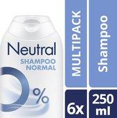 Neutral 0% Shampoo - 250 ml - 6 stuks - Voordeelverpakking