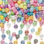 Fonkelende rozen bloem kralen - kralenset - 400 stuks