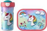Unicorn Schoolset Lunchbox Beker