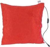 Massagekussen - oplaadbaar - rood - massageapparaat met infrarood warmtefunctie - draadloos - gekleurde wasbare hoes - Comfy