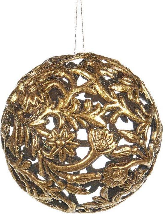 Goodwill Kerstbal Brons-Goud D 10 cm  Voordeelverpakking per 2 stuks