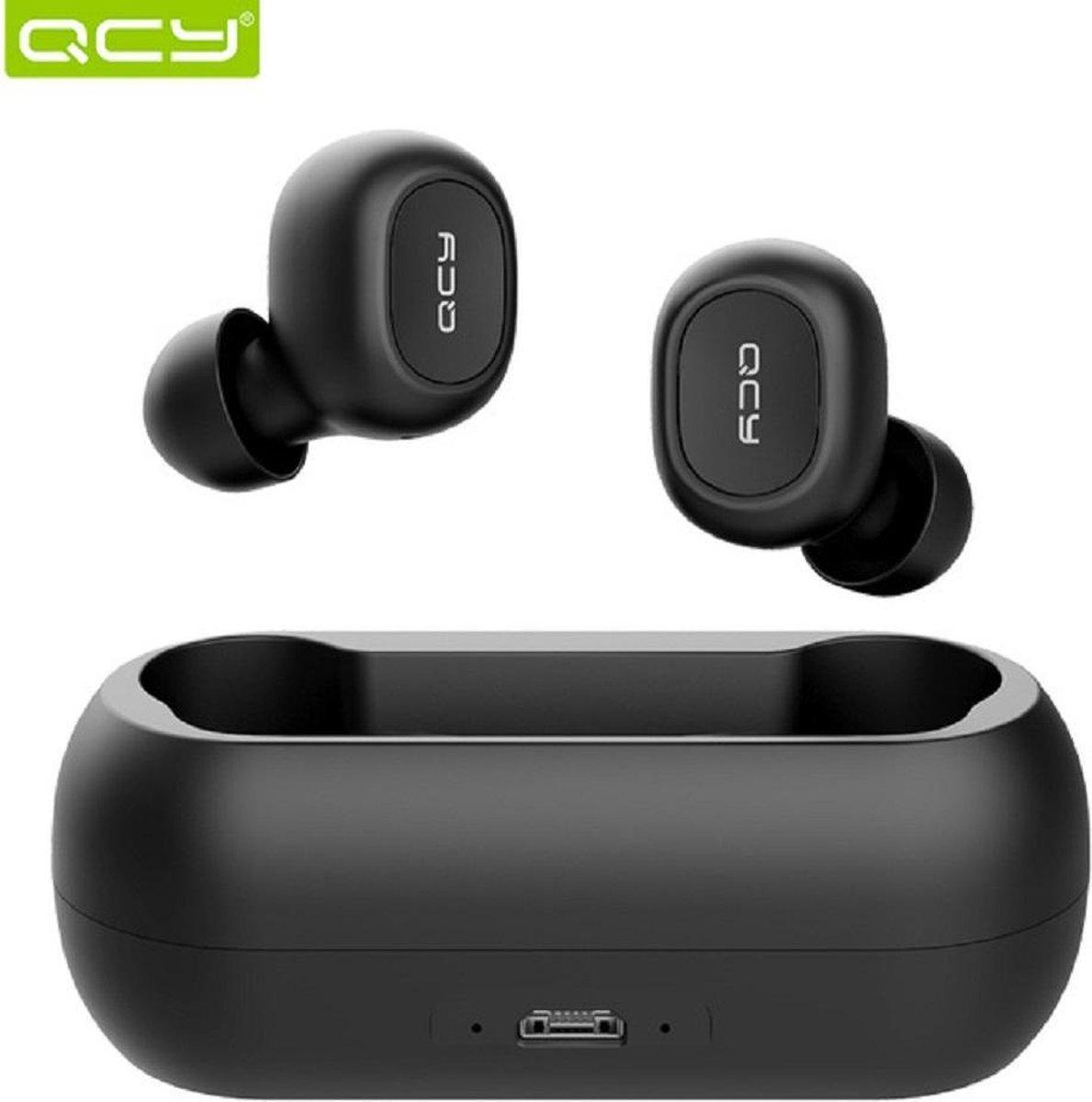 QCY T1C Volledig draadloos In-Ear oordopjes (ZWART)    Bluetooth 5.0   Meer dan 20 uur gebruik