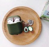 Afbeelding van Airpods hoesje - trendy Airpods case geschikt voor Apple Airpods - Olive green Avocado