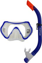 Tunturi Snorkelset -Duikbril en Snorkel - Junior - Blauw