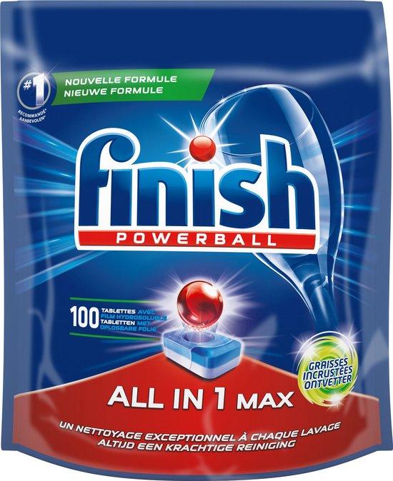 Finish All in 1 Max Grease Fighter - Vaatwastabletten - Kwartaal Pak - 100 stuks