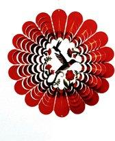 Spin Art windspinner kolibrie RVS - Ø 30 cm - rood