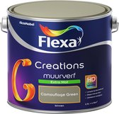 Flexa Creations - Muurverf Extra Mat - Camouflage Green - 2,5 liter