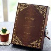 Dagboek met Cijfer Slot - Diary with Lock - Vintage  - Code Slot - Bruin
