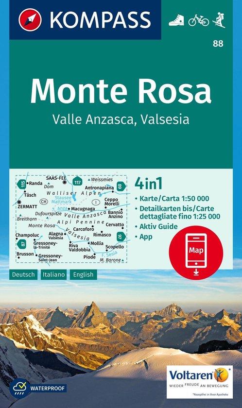 Kompass WK88 Monte Rosa, Valle Anzasca, Valsesia - Kompass |